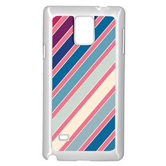 Colorful Lines Samsung Galaxy Note 4 Case (white) by Valentinaart