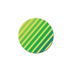 Green And Yellow Lines Golf Ball Marker (4 Pack) by Valentinaart