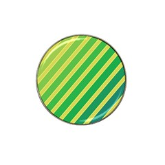 Green And Yellow Lines Hat Clip Ball Marker (4 Pack) by Valentinaart