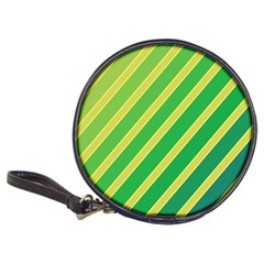 Green And Yellow Lines Classic 20 Cd Wallets by Valentinaart