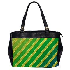 Green And Yellow Lines Office Handbags by Valentinaart