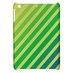 Green And Yellow Lines Apple Ipad Mini Hardshell Case by Valentinaart