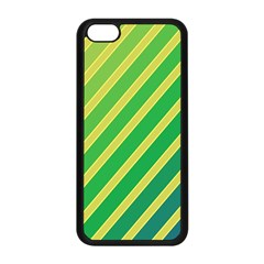 Green And Yellow Lines Apple Iphone 5c Seamless Case (black) by Valentinaart