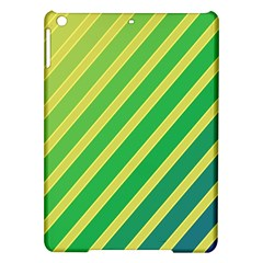 Green And Yellow Lines Ipad Air Hardshell Cases by Valentinaart