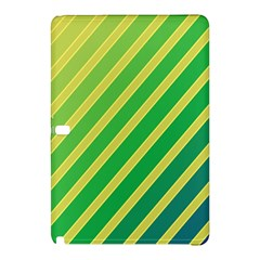 Green And Yellow Lines Samsung Galaxy Tab Pro 10 1 Hardshell Case by Valentinaart