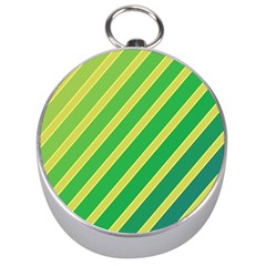 Green And Yellow Lines Silver Compasses by Valentinaart