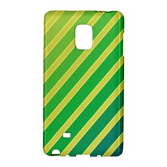 Green And Yellow Lines Galaxy Note Edge by Valentinaart