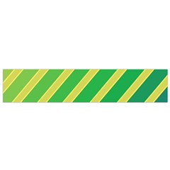 Green And Yellow Lines Flano Scarf (small) by Valentinaart