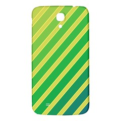 Green And Yellow Lines Samsung Galaxy Mega I9200 Hardshell Back Case by Valentinaart