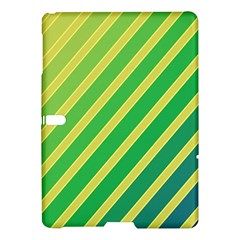 Green And Yellow Lines Samsung Galaxy Tab S (10 5 ) Hardshell Case  by Valentinaart