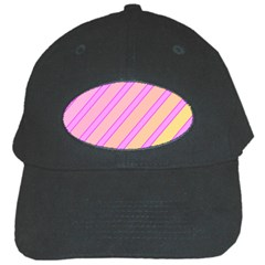 Pink And Yellow Elegant Design Black Cap by Valentinaart