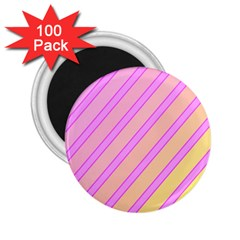 Pink And Yellow Elegant Design 2 25  Magnets (100 Pack)  by Valentinaart