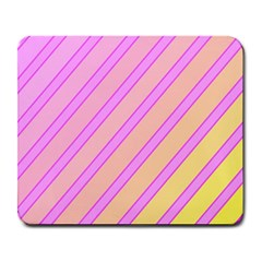 Pink And Yellow Elegant Design Large Mousepads