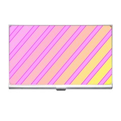 Pink And Yellow Elegant Design Business Card Holders