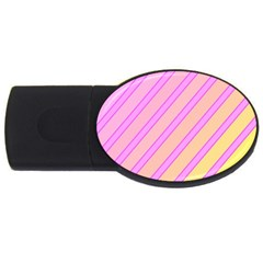 Pink And Yellow Elegant Design Usb Flash Drive Oval (2 Gb)  by Valentinaart
