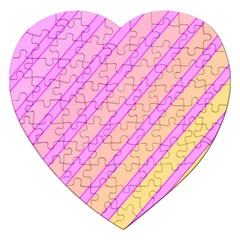 Pink And Yellow Elegant Design Jigsaw Puzzle (heart) by Valentinaart