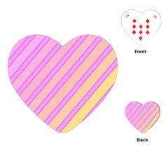 Pink And Yellow Elegant Design Playing Cards (heart)  by Valentinaart