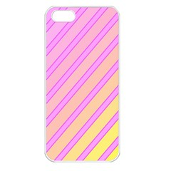 Pink And Yellow Elegant Design Apple Iphone 5 Seamless Case (white) by Valentinaart