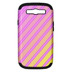 Pink And Yellow Elegant Design Samsung Galaxy S Iii Hardshell Case (pc+silicone) by Valentinaart