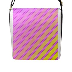 Pink And Yellow Elegant Design Flap Messenger Bag (l)  by Valentinaart