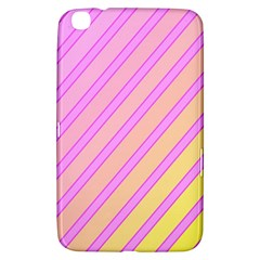 Pink And Yellow Elegant Design Samsung Galaxy Tab 3 (8 ) T3100 Hardshell Case  by Valentinaart