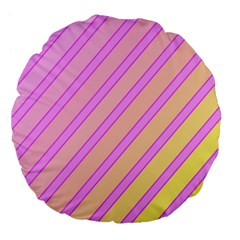 Pink And Yellow Elegant Design Large 18  Premium Flano Round Cushions by Valentinaart