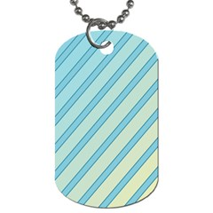 Blue Elegant Lines Dog Tag (two Sides) by Valentinaart