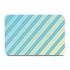 Blue Elegant Lines Plate Mats by Valentinaart