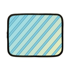 Blue Elegant Lines Netbook Case (small)  by Valentinaart