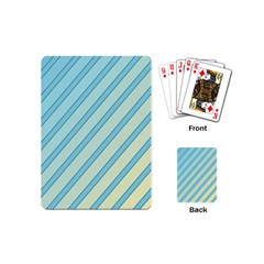 Blue Elegant Lines Playing Cards (mini)  by Valentinaart