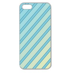 Blue Elegant Lines Apple Seamless Iphone 5 Case (clear) by Valentinaart