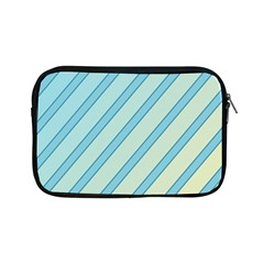 Blue Elegant Lines Apple Ipad Mini Zipper Cases by Valentinaart