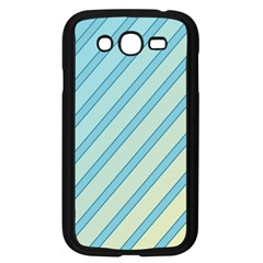 Blue Elegant Lines Samsung Galaxy Grand Duos I9082 Case (black) by Valentinaart