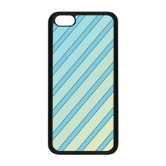 Blue Elegant Lines Apple Iphone 5c Seamless Case (black) by Valentinaart