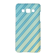 Blue Elegant Lines Samsung Galaxy A5 Hardshell Case  by Valentinaart