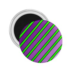 Purple And Green Lines 2 25  Magnets by Valentinaart