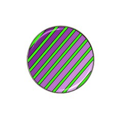 Purple And Green Lines Hat Clip Ball Marker by Valentinaart