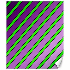 Purple And Green Lines Canvas 20  X 24   by Valentinaart
