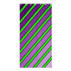Purple And Green Lines Shower Curtain 36  X 72  (stall)  by Valentinaart