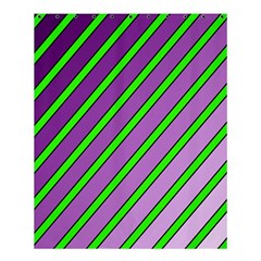Purple And Green Lines Shower Curtain 60  X 72  (medium)  by Valentinaart