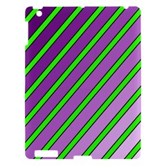 Purple And Green Lines Apple Ipad 3/4 Hardshell Case by Valentinaart