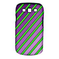 Purple And Green Lines Samsung Galaxy S Iii Classic Hardshell Case (pc+silicone) by Valentinaart