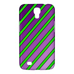 Purple And Green Lines Samsung Galaxy Mega 6 3  I9200 Hardshell Case by Valentinaart