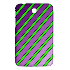 Purple And Green Lines Samsung Galaxy Tab 3 (7 ) P3200 Hardshell Case