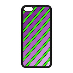 Purple And Green Lines Apple Iphone 5c Seamless Case (black) by Valentinaart