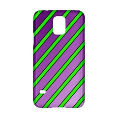 Purple And Green Lines Samsung Galaxy S5 Hardshell Case  by Valentinaart