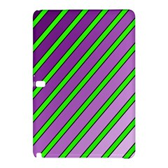 Purple And Green Lines Samsung Galaxy Tab Pro 10 1 Hardshell Case by Valentinaart