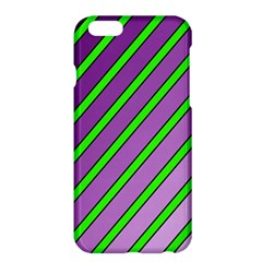 Purple And Green Lines Apple Iphone 6 Plus/6s Plus Hardshell Case by Valentinaart