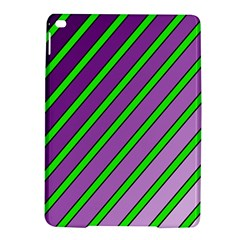 Purple And Green Lines Ipad Air 2 Hardshell Cases by Valentinaart