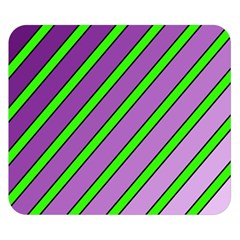 Purple And Green Lines Double Sided Flano Blanket (small)  by Valentinaart